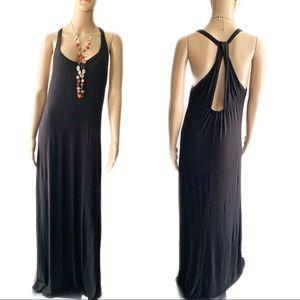 ❤️ Finn & Clover Black Maxi Dress Size M